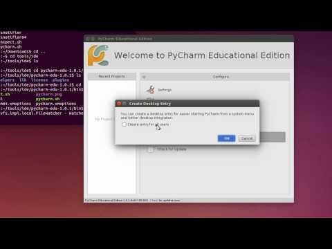 Install PyCharm Educational IDE in Ubuntu 14.04