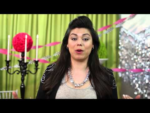 How to Hang Up Metallic Curtain Party Decorations : Event Etiquette & Inspirations