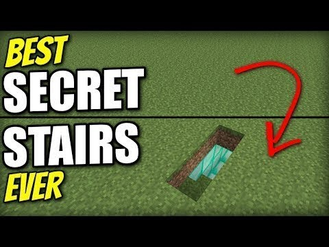 BEST SECRET STAIRS ENTRANCE EVER! MINECRAFT HIDDEN BASE EASY