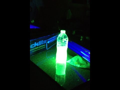 How to make GLOWING WATER!!  (very simple)