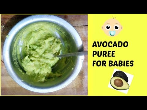 Avocado puree for baby | 6 to 12 months baby food