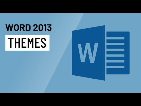 Word 2013: Themes
