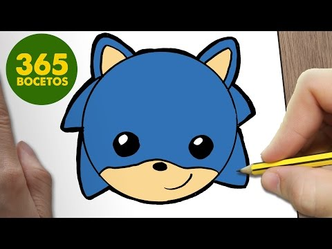 Como Dibujar Sonic Emoticonos Whatsapp Kawaii Paso A Paso Dibujos