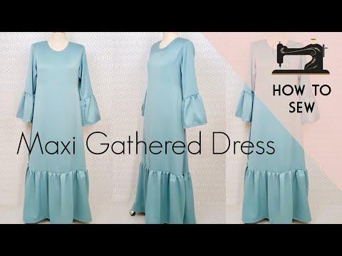 DIY Maxi Gathered Dress /  DIY Abaya / Gathered Dress