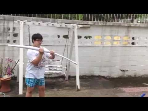 Testing my paper spear
