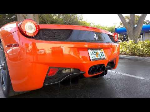 Ferrari 458 Spider - START UP and light revs