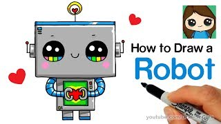 How to Draw a Robot Super Easy and Cute