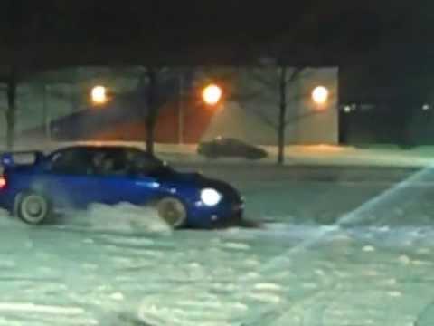 STI having fun in the snow