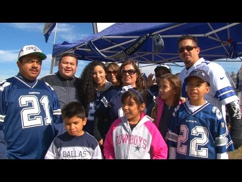 Dallas Cowboys fans celebrate Thanksgiving Day at AT&T Stadium 11/28/2013