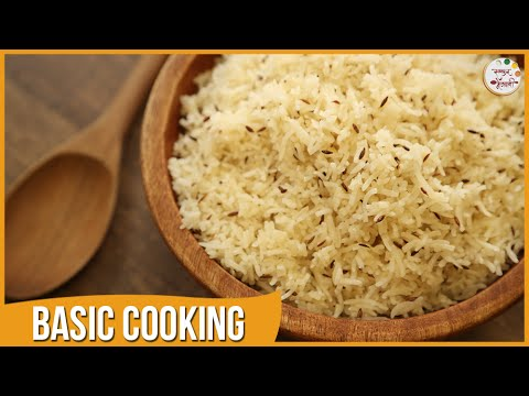 Jeera Rice | Easy & Quick Indian Rice | Recipe by Archana in Marathi | Basic Cooking