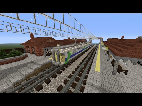MINECRAFT TRAIN STATION TUTORIAL ( part one )