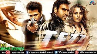 Best Scenes Of Tezz | Ajay Devgan | Kangana Ranaut | Anil Kapoor | Superhit Bollywood Action Scenes