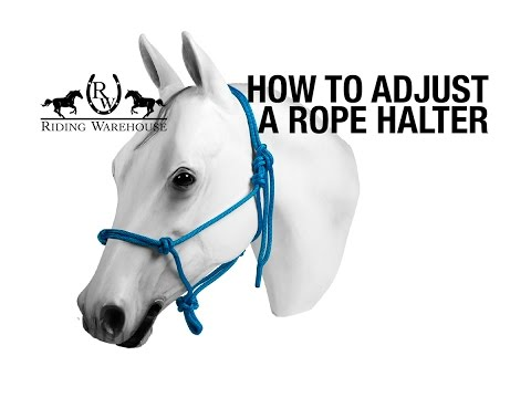 How To Resize & Adjust a Rope Halter