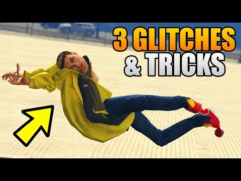 GTA 5 Online - 3 NEW GLITCHES & TRICKS! (Character Body Glitch, No Wanted Level & Vehicle Trick)