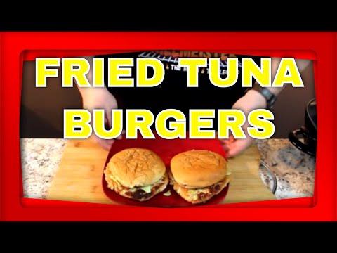 Fried Tuna Burgers!  (On a grilled bun)