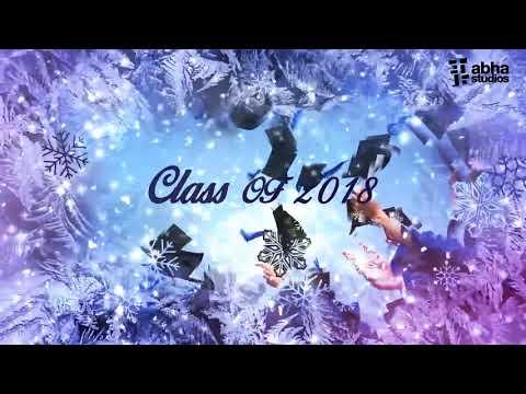 Graduation Party Video Invite on Winter Wonderland Theme
