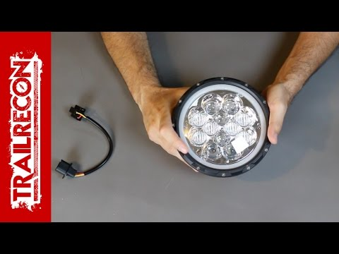 "Auxbeam 7"" Round LED Headlight Review with Atmosphere Function – Jeep Wrangler"