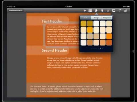 How to change colors - Awesome Mails HD App for iPad