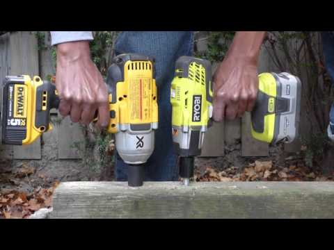 Lag Bolt Impact Wrench Shootout #4: Ryobi vs Dewalt , IR , Mastercraft