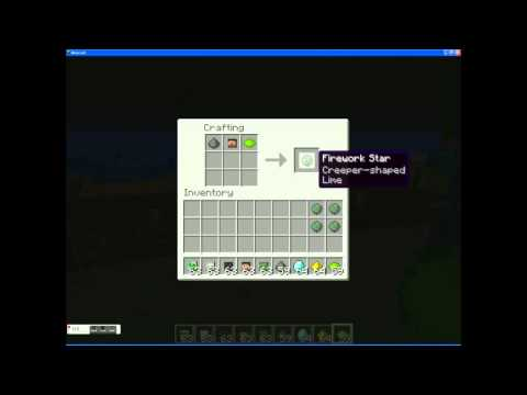 Minecraft Firework: Creeper Head Shaped! & How To!
