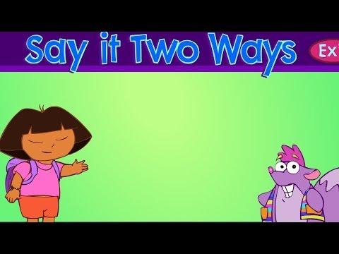 Dora the Explorer and Chico Teach Spanish/English! Fun Dora the Explorer Game for Children in HD