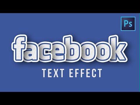 [ Photoshop Tutorials ] Design FACEBOOK Text Effects in Photoshop