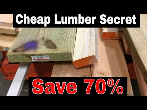 How to get 70% OFF GOOD CHEAP LUMBER from Home Depot & Lowe's