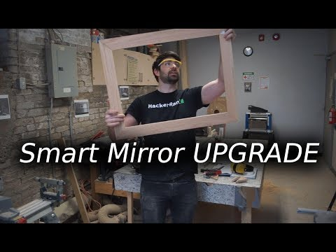 Building a Smart Mirror Frame (Glass Mirror Upgrade!)