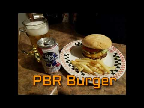 PBR Hamburger Recipe | Cooking with Beer!