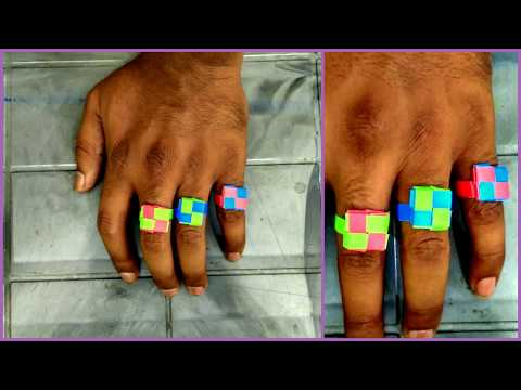 How to make simple finger rings at home with paper