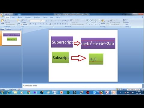 How to create superscript in Powerpoint | add superscript/Subscript