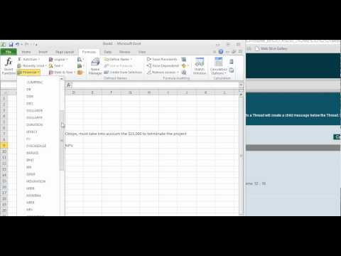 Calculating NPV using Excel
