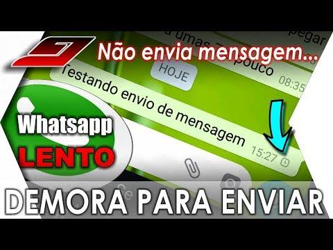 Mensagens Whatsapp demorando para enviar (MESMO COM INTERNET) | Guajenet