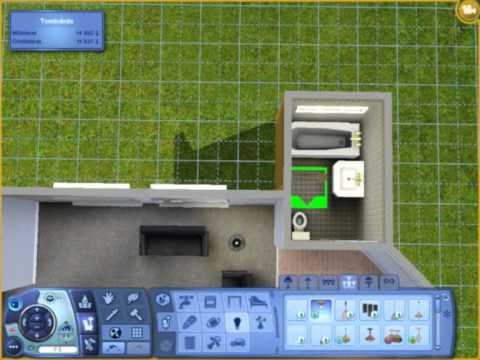 Building and decorating a starter-house in The Sims 3