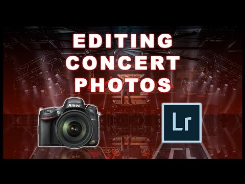 Editing Concert Photography Tutorial in Adobe Lightroom CC