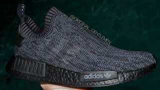 Pitch Black NMD CUSTOM  Tri-Color Stripe Removal