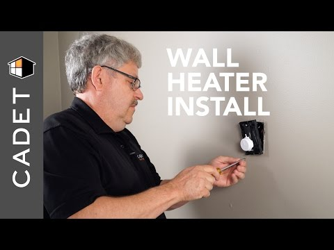 How to install a wall heater with wall thermostat | Cadet Heat