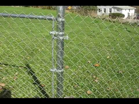 Zacky's Yard!  Installing Chain Link Fence