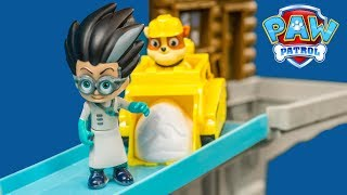 PAW PATROL Nickelodeon Rubble Mountain Rescue with the Assistant and PJ Masks