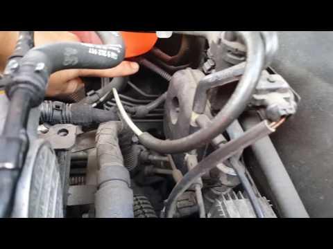 Vauxhall Opel Vectra coolant/radiator water level sensor repair.