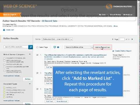 How to find an H-index in Web of Science