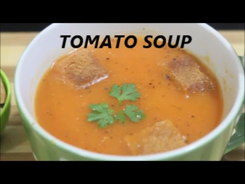 Tomato Soup With Bread Croutons/Recipe in Hindi/Healthy/Tasty/Simple to make
