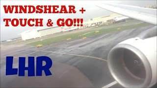 EXTREME ABORTED LANDING! London Heathrow Airport *TOUCH & GO + CROSSWIND!* Swiss Intl Airlines A321