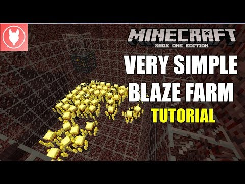 Minecraft Xbox One - Simple Blaze Farm Tutorial (Xbox/ PS4/ PS3/ Wii U/ Switch)