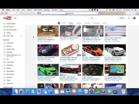 Safari Browser Youtube menubar Bug on Mac (Yosemite OSX)