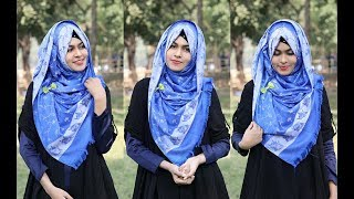 Hijab Style for Daily wear with Two Sided Hijab || MUNA