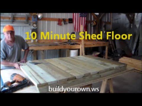 10 Minuite Shed Floor