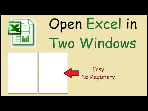 How to open Excel files in two separate windows 2010