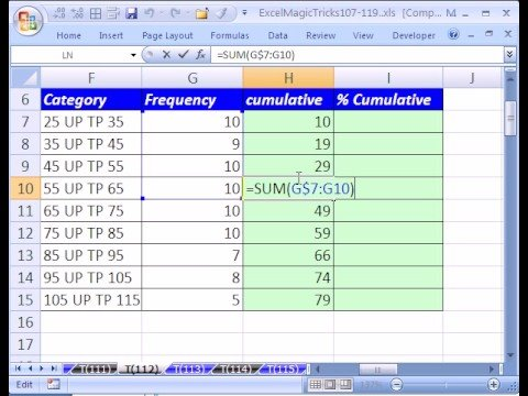 Excel Magic Trick #112: Add Cumulatively