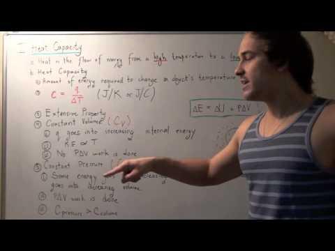 Heat Capacity, Specific Heat Capacity and Molar Heat Capacity